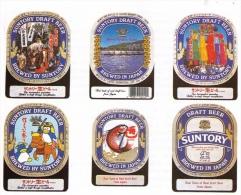 Superbe Ekta 13 X 18 Cm : Bière, Assortiment D´étiquettes, Brasserie Suntory, Japon, Années 1980 - Other