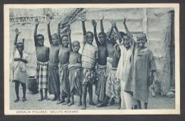7265-SOMALIA ITALIANA-SALUTO FASCISTA-EX COLONIE ITALIANE-1938-FP - Guerra 1939-45
