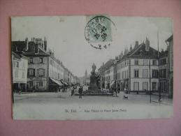 CP SAINT DIE     RUE THIERS ET PLACE JULES FERRY - ECRITE EN 1905 - Saint Die