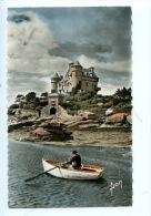 Château De Costaérès Vu De Ploumana'h En Perros Guirec (cotes Du Nord) N°522 Dentelée Colorisée Animée Barque - Ploumanac'h