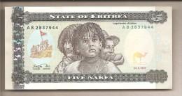 Eritrea - Banconota Non Circolata Da 5 Nakfa - 1997 - Erythrée