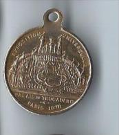 Médaille Souvenir D´Inauguration/ Exposition Universelle/ Palais Du Trocadéro /Paris / 1878      D453 - France