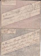 """1916 + 1917 - 2 LETTRES FM (EDITEUR """"LA CONFIDENTE"""") - 2 COULEURS DIFFERENTES - Marcophilie (Lettres)"""