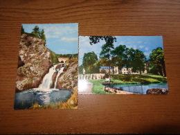 2 Cartes D'Habay-La-Neuve: Chateau Du Pont D'Oye Et L'étang + Cascade De Bologne - Habay