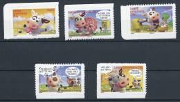 """Yt 4089 à 4093 """" Sourires Avec Les Vaches : 5 Tp Adhésifs"""" 2007 Neuf** - Unused Stamps"""