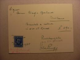 Biglietto/fattura Fratelli VENEZIANI Successore CONFALONIERI. Gioiellerie; Oreficerie; Argenterie D'Arte 1935 - Non Classificati
