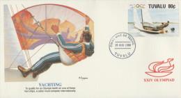 O) 1988 TUVALU-AUSTRALIA, XXIV OLYMPIAD-OLYMPIC, YACHTING, FDC XF - Tuvalu
