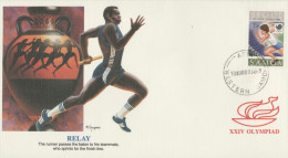 O) 1988 SEOUL-KOREA, XXIV OLYMPIAD-OLYMPIC, RELAY, FDC XF. - Korea (...-1945)