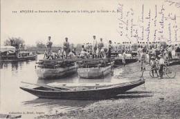 Militaria - Construction Pont Bâteaux - Vélo - Génie - Manoeuvres