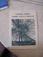 Document Tunnel Sous La Manche - Channel Tunnel - 1994 - Avec Timbres - France