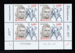 MONACO 2003-un Bloc De 4 N° 2401** Centenaire De La Naissance Du Compositeur Aram Khatchaturian 1.60€€ CDF Date - Ohne Zuordnung