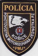 Police Slovaque - Slovakia, écussons Tissu-Patches, Unité Motorisée Mode Veille PZ Košice, - Police