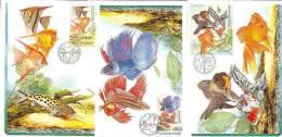 Czech Republic 2003 - Fishes, Set Of 4 Cartes Maximum - Tchéquie