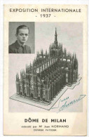 ARTISANAT CELEBRITE MONDE PÂTISSERIE : Jean NORMAND Ouvrier Pâtissier Dédicace Oeuvre Le Dôme De Milan Exposition 1937 - Artesanal