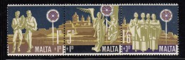 Malta MNH Scott #B3a Triptych Star Of Bethlehem, Peasants, Angels, Choir - Christmas - Malte