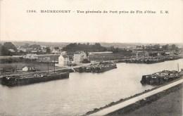 4 CPA : MAURECOURT VUE DU PORT PENICHES PONT SUSPENDU SORTIE DU VILLAGE 78 YVELINES - Maurecourt