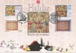 Carte-souvenir De L´Emission Commune Avec La Turquie - COB N° 3413HK - Tapis Et Tapisseries - Cartoline Commemorative