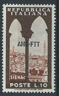 1954 TRIESTE A TURISTICA 10 LIRE MNH ** - ED037-6 - Nuevos