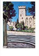 84 - AVIGNON - PALAIS DES PAPES - Exposition Alfred LESBROS - Le Palais Des Papes Aux Gradins Bleus Photo Daspet - Avignon