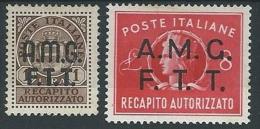 1947 TRIESTE A RECAPITO AUTORIZZATO MH * - ED054-4 - Eilsendung (Eilpost)