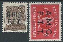 1947 TRIESTE A RECAPITO AUTORIZZATO MH * - ED055-3 - Eilsendung (Eilpost)