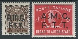 1947 TRIESTE A RECAPITO AUTORIZZATO MH * - ED055-6 - Eilsendung (Eilpost)
