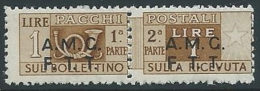 1947-48 TRIESTE A PACCHI POSTALI 1 LIRA MNH ** - ED060-3 - Paketmarken/Konzessionen