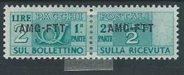 1949-53 TRIESTE A PACCHI POSTALI 2 LIRE MH * - ED069 - 7. Trieste