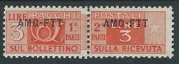 1949-53 TRIESTE A PACCHI POSTALI 3 LIRE MH * - ED072-7 - Paketmarken/Konzessionen