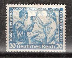 """Allemagne, Deutsches Reich,1933, WAGNER, Yvert N° 476, 20 P + 10 P Bleu Clair"""" Tristan & Yseult """", Neuf (*), TB - Deutschland"""
