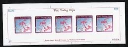 Glass Paper Master For Wine Tasting Days Sheetlet 1996. - New Zealand