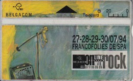 BELGIUM - On Line With Rock 3, CN : 445E, Tirage 37000, Used