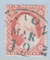 U.S.  26  GREEN  Cd.     (o) - 1847-99 General Issues