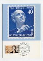 GERMANY / BERLIN-WEST - AK AK198441 Maxiphil - 1/1986 Berlin - Wilhelm Furtwängler - Cartes-Maximum (CM)