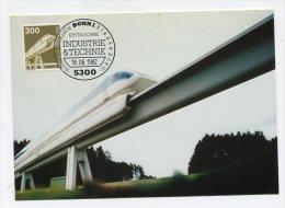 GERMANY - AK198500 Maxiphil - 22/82 Dauerserie - Magnetbahn - [7] Federal Republic