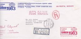 Thailand 1983 Registered Cover To Australia - Thailand
