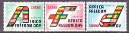GHANA   75-7   (o)   FLAGS  AFRICAN FREEDOM DAY - Ghana (1957-...)