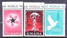 GHANA   115-7  **  WORLD WITHOUT BOMB - Ghana (1957-...)