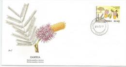 Zambie 1991 546 FDC - Fleurs - Dessin Basil Smith - Zambie (1965-...)