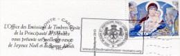 Monaco-2013-nativité-timbre Oblitéré Sur Carte - Monaco