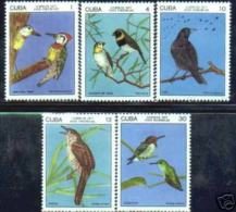 CUBA/KUBA 1977  AVES ENDEMICAS SET MNH - Kuba