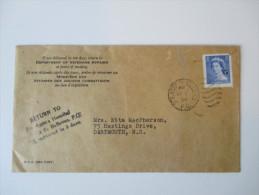 Kanada 1954 Dienstpost / Dienstmarke. Department Of Veterans Affairs. St. Anne's Hospital - Perfins