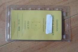 10 Pochettes à Double Soudure 102 Mm X 27 Mm Fond Noir  Yvert & Tellier - Mounts