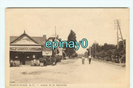 Br - 44 - THARON PLAGE - Avenue De La Convention - Café De La Gare - édition Combier - RARE VISUEL - Tharon-Plage