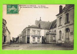 SAVIGNY-SUR-BRAYE - LA MAIRIE - LA GENDARMERIE - L'HOTEL ET LES POSTES - France