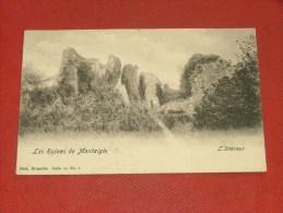 ONHAYE  -   Les Ruines De Montaigle  - L´intérieur   -  1903  -  (2 Scans) - Onhaye