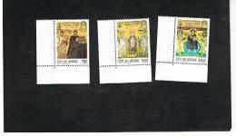 VATICANO - UNIF. 998.1000 - 1994 XIII CONGRESSO INTERN. ARCHEOLOGIA CRISTIANA: MOSAICI DI POREC  -   NUOVI  (MINT)** - Nuevos