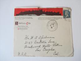 Frankreich 1930 Carcassone - Los Angeles. Zierumschlag: Hotel De La Cite - Frankreich