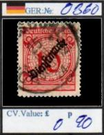 GERMANY: EMPIRE: OFFICIALS DEFINITIVES (GER 250-1 (15) - Service