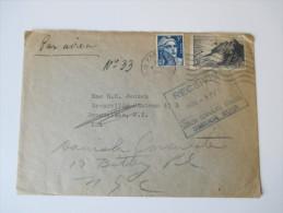 Frankreich 1947 Brief Von Paris Nach Bronxville USA Weitergeleitet An Das Danish Consulate - France